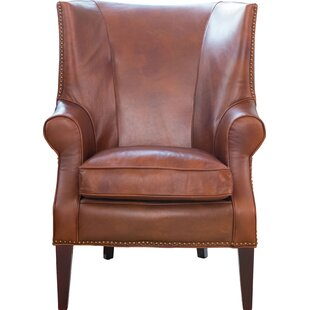 Genial Brayden Leather Wingback Chair