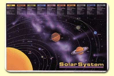 Solar System Placemat (Set of 4) by Painless Learning Placemats