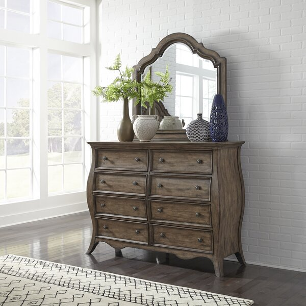 Toni 8 Drawer Dresser with Mirror by One Allium Way