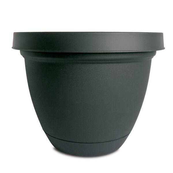 Infinity Self-Watering Vinyl Pot Planter with Saucer (Set of 4) by Akro-Mils Lawn & Garden
