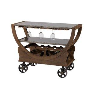 Tomohon India Trolley Bar Cart by Laurel Foundry Modern Farmhouse