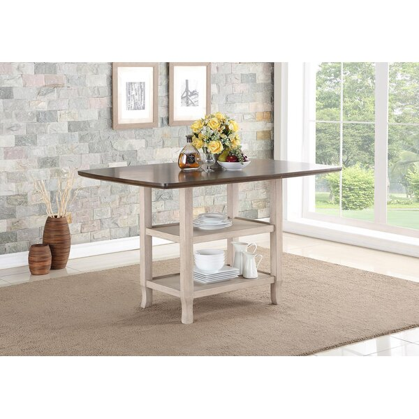 Castagna Counter Height Extendable Pub Table by August Grove