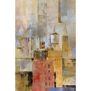 Water Tower I by Longo Painting Print on Wrapped Canvas by Portfolio Canvas Decor