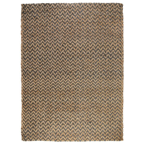 Chevron Gray Hand-spun Indoor Area Rug by Kosas Home