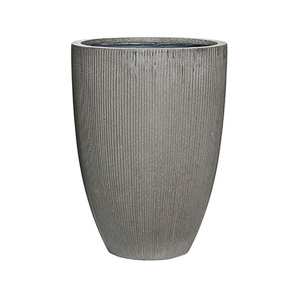 Gleaves Ridged Fiber Stone Pot Planter by Williston Forge