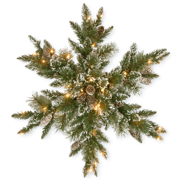 Pine Snowflake with 50 LED Lights by Loon Peak