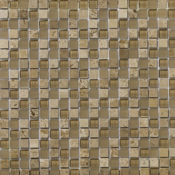 Lucente 0.6 x 0.6 Glass Stone Blend Mosaic Tile in Regale by Emser Tile