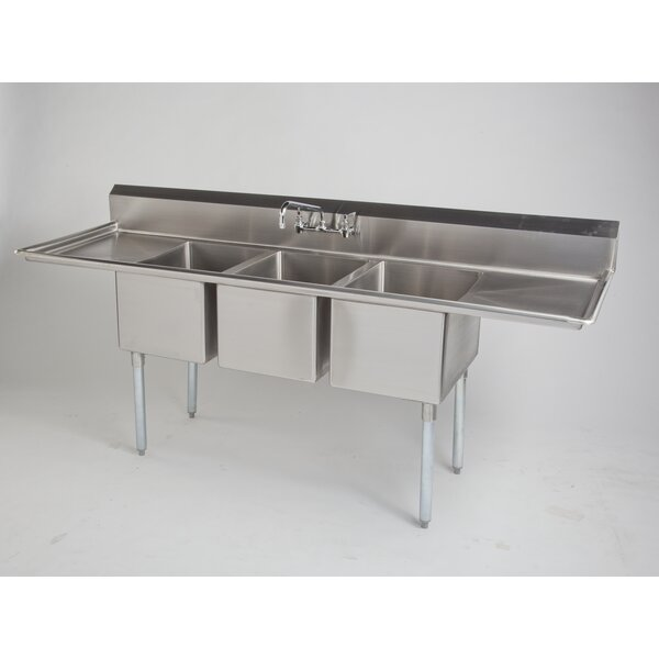 Universal 43 L x 33 W Dual Mount Kitchen Sink