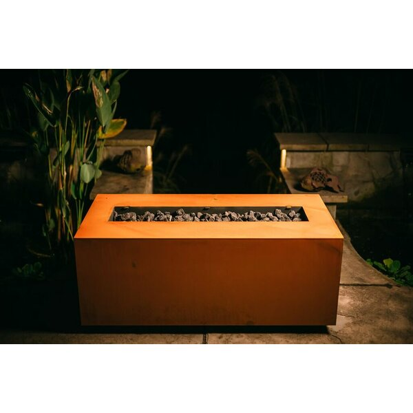 Linear Steel Propane/Natural Gas Fire Pit By Fire Pit Art