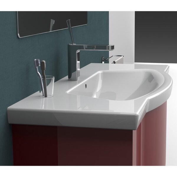 Argona Ceramic Rectangular Drop-In Bathroom Sink with Overflow by CeraStyle by Nameeks