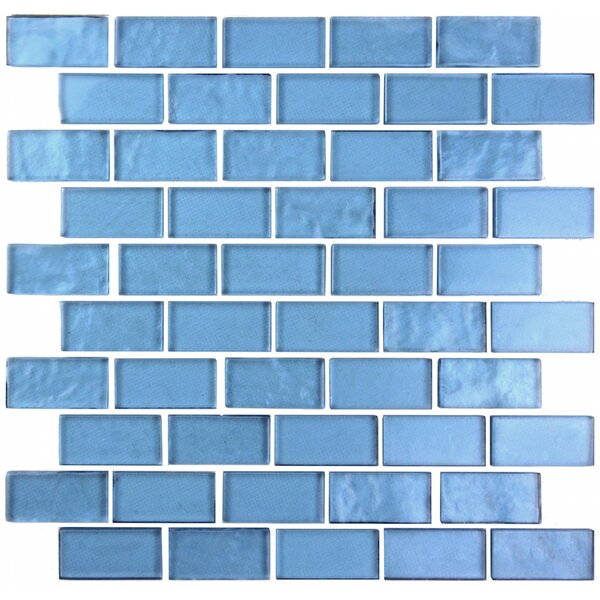 Landscape 1 x 2 Glass Mosaic Tile in Sky Blue by Abolos