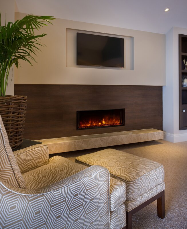 Landscape Full View Series Wall Mounted Electric Fireplace