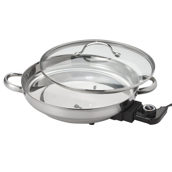 Gourmet Electric 6.61 Non-Stick Skillet with Lid by Aroma