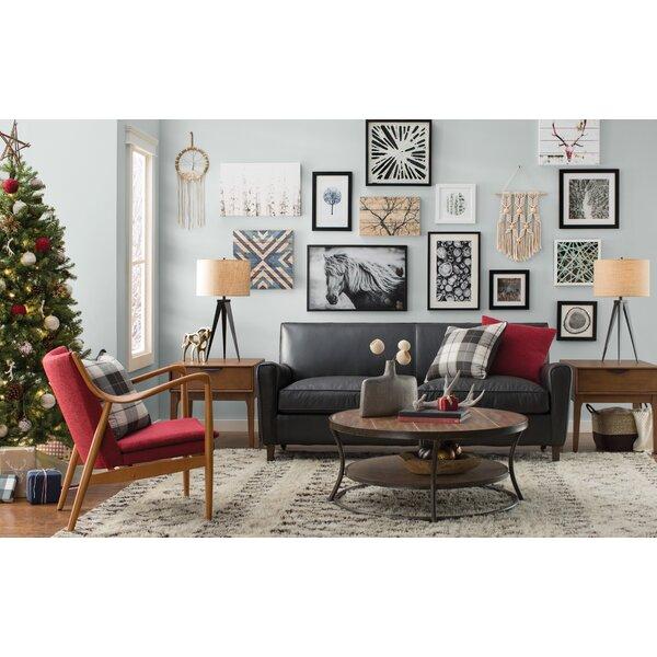 Foster Leather Sofa by AllModern Custom Upholstery