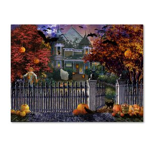 'Halloween House' Print on Wrapped Canvas by Trademark Fine Art