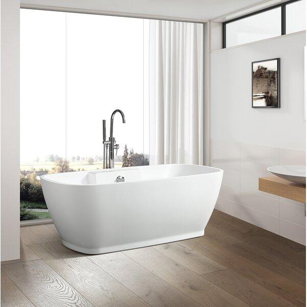59 x 30 Freestanding Soaking Bathtub by Vanity Art