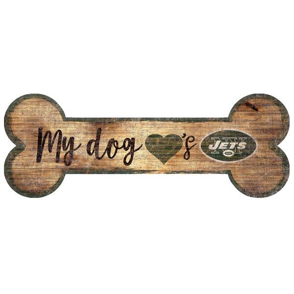 NFL Dog Bone Sign Wall Décor by Fan Creations
