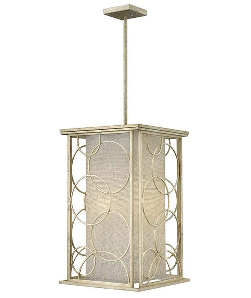 Flourish 6 - Light Candle Style Square / Rectangle Chandelier By Hinkley
