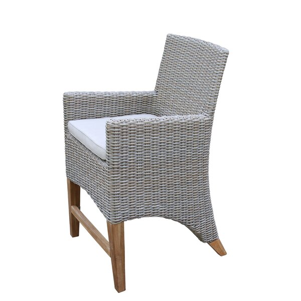 Sutter Patio Dining Chair with Cushion by Gracie Oaks