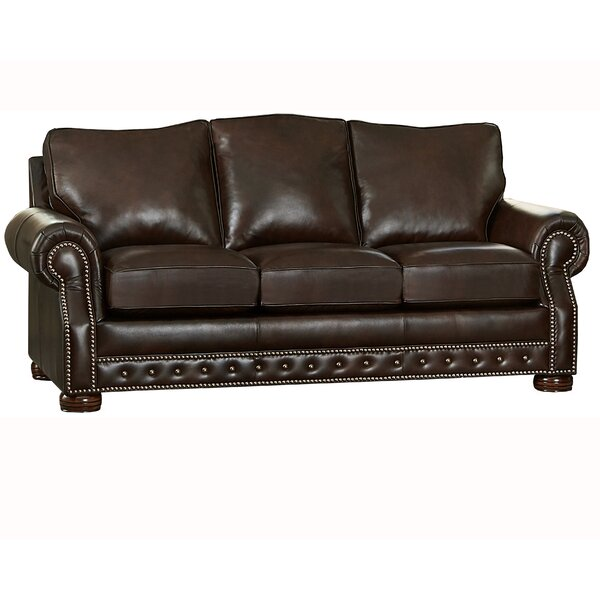 Check Price Pelaez Leather Sofa Bed