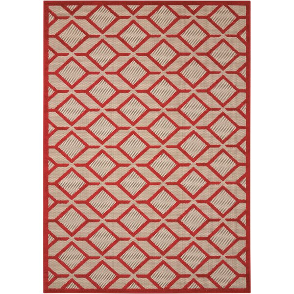 Taschen Red Indoor/Outdoor Area Rug by Langley Street