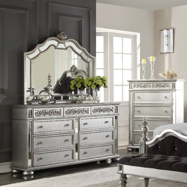 Waddell 9 Drawer Dresser with Mirror by House of Hampton