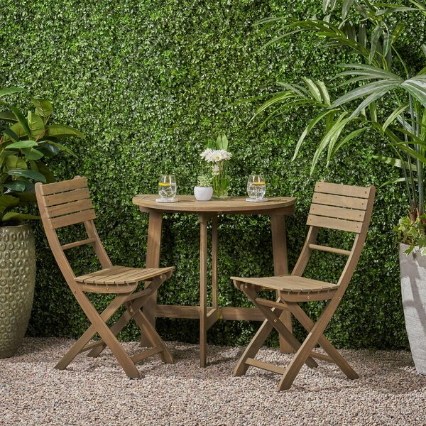 Lynne Outdoor 3 Piece Bistro Set By Bay Isle Home