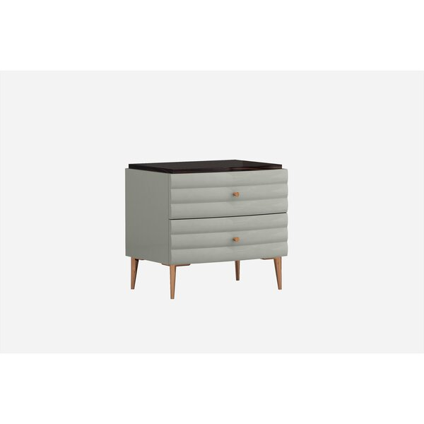 Amick 2 Drawer Nightstand by Everly Quinn