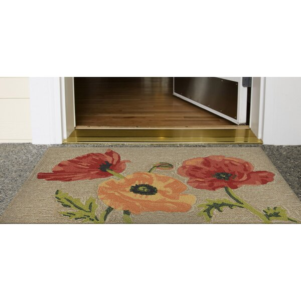 Carbonell Hand-Tufted Yellow/Red Indoor/Outdoor Area Rug by Winston Porter