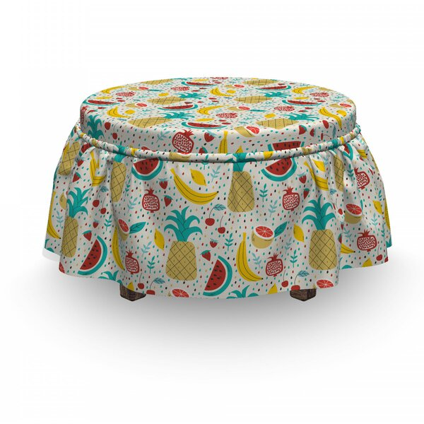 Fruits Abstract Kitchen Ottoman Slipcover (Set Of 2) By East Urban Home