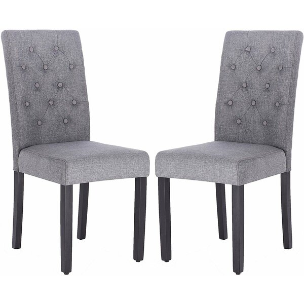 Robledo Tufted Linen Upholstered Parsons Chair (Set of 2) by Red Barrel Studio Red Barrel Studio®