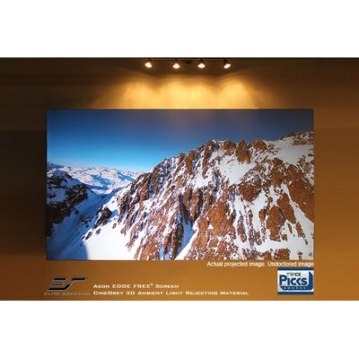 Aeon Series Gray Fixed Frame Projection Screen Elite Screens Viewing Area: 58.3