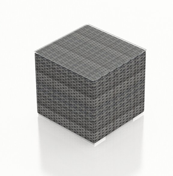 District Wicker Side Table by Harmonia Living