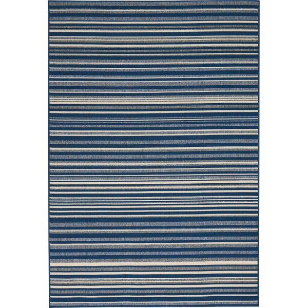Lido Navy Blue/Cream Indoor/Outdoor Area Rug by Barclay Butera