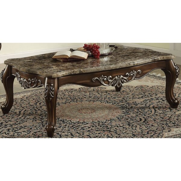 Mccloud Coffee Table with Marble Top by Astoria Grand