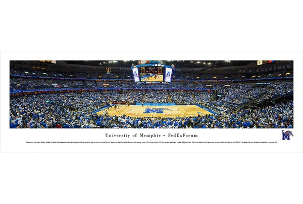 NCAA Memphis, University of - Fedexforum by James Blakeway Photographic Print by Blakeway Worldwide Panoramas, Inc