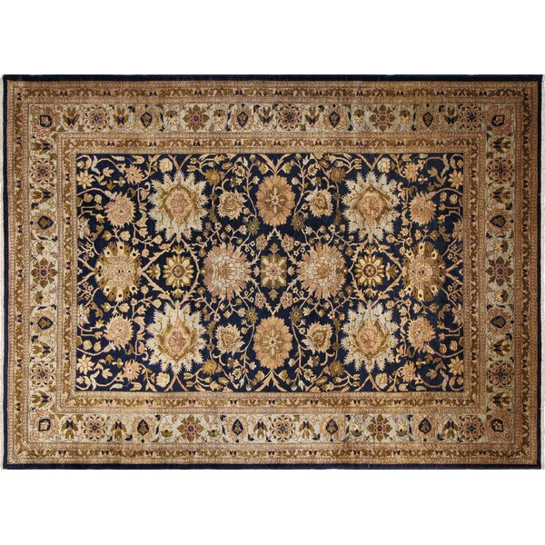 One-of-a-Kind Romona Hand-Knotted Rectangle Blue Wool Area Rug by Isabelline