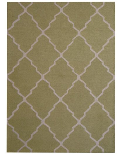Hand-Tufted Light Green/Beige Indoor Area Rug by Herat Oriental