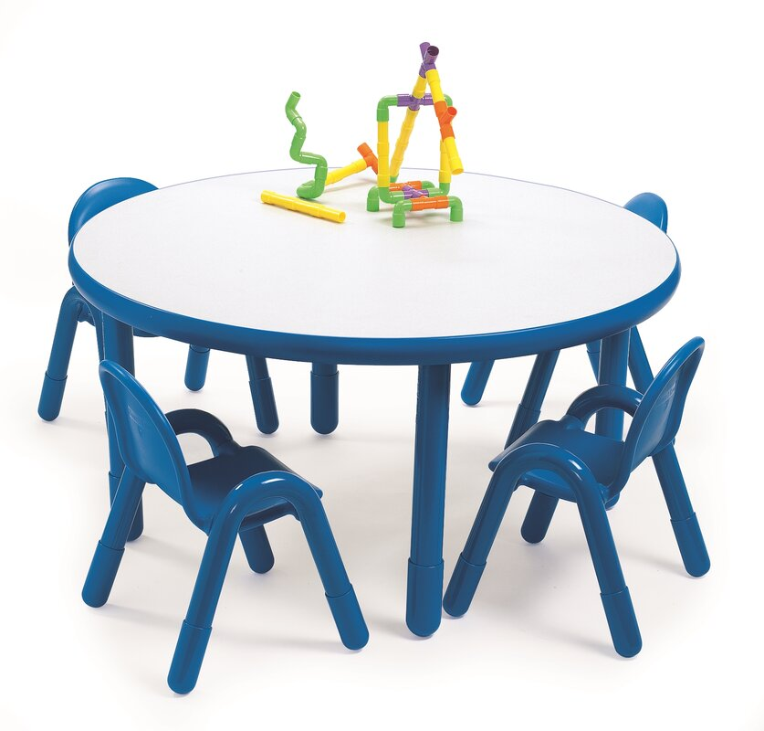 preschool table. Round Baseline Preschool Table And Chair Set In Royal Blue