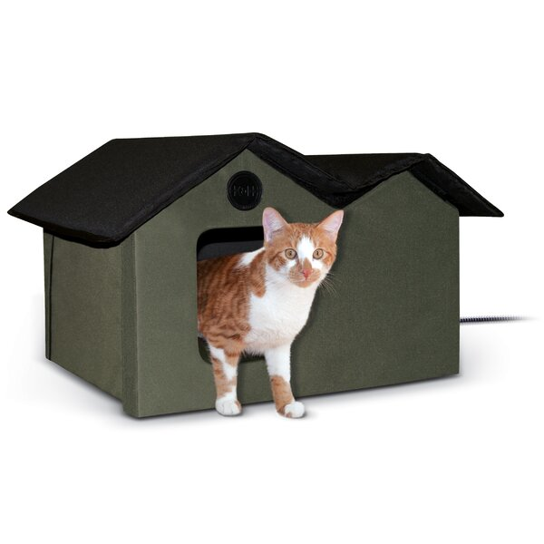 Outdoor Heated Kitty House Extra-Wide by K&H Manufacturing