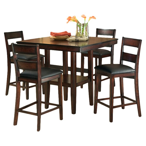 5 Piece Counter Height Dining Set By Standard Furniture