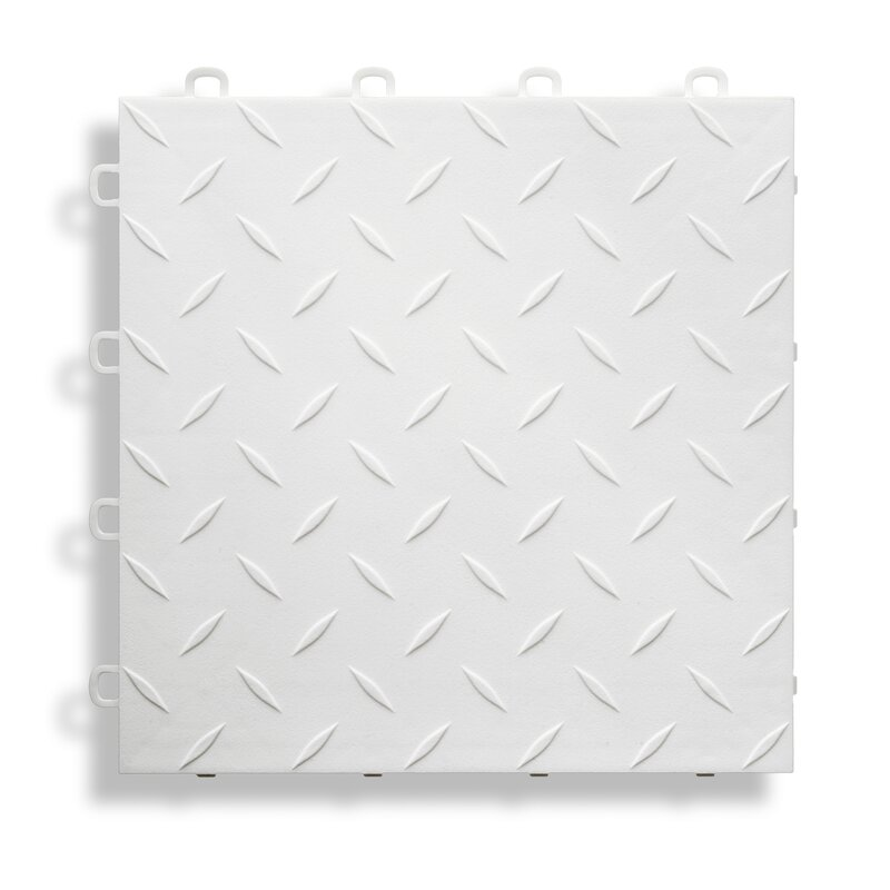 Blocktile 12 Quot X 12 Quot Garage Flooring Tile In White Wayfair