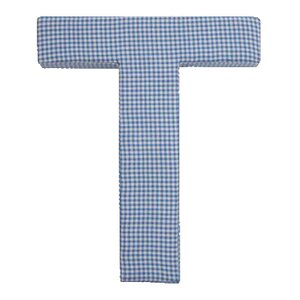 Roland Blue Gingham Fabric Wall Plaque by Viv + Rae