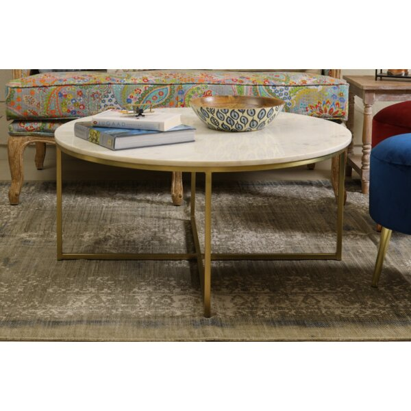 Coraline Marble And Brass Coffee Table By Mercer41