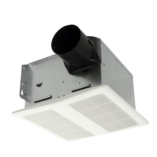 HushTone 80 CFM Energy Star Bathroom Fan With Humidistat Combo by Cyclone
