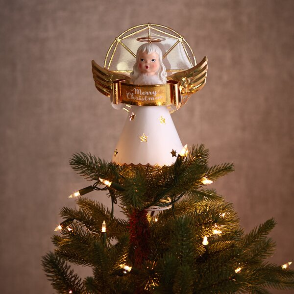 Vintage Inspired Angel Tree Topper with Light by Hallmark Home & Gifts
