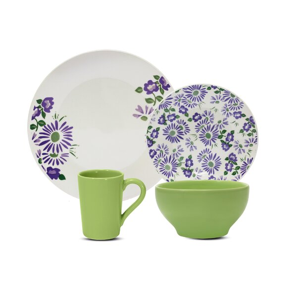 Starling Lilac 16 Piece Dinnerware Set, Service for 4 by August Grove
