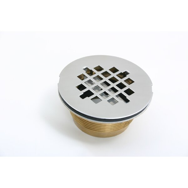 No-Caulk2.5 Grid Shower Drain by CSI Bathware