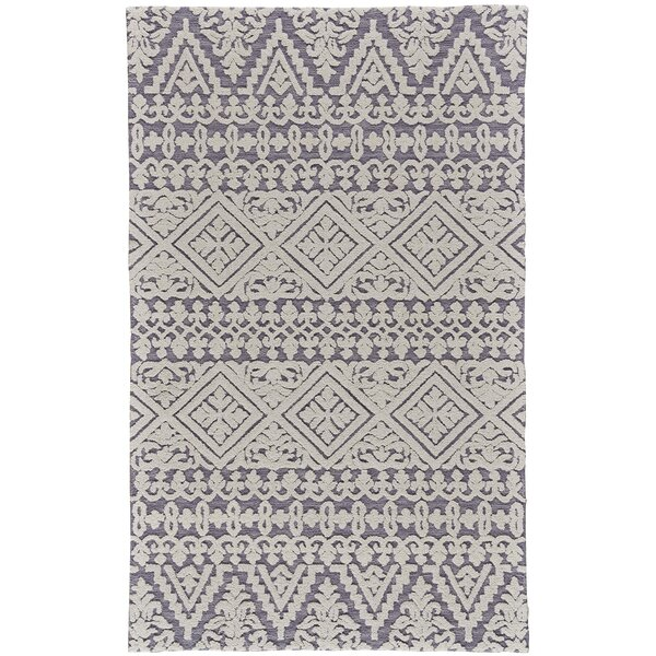 Grice Hand-Tufted Wool Pearl/Gray Area Rug by Bungalow Rose