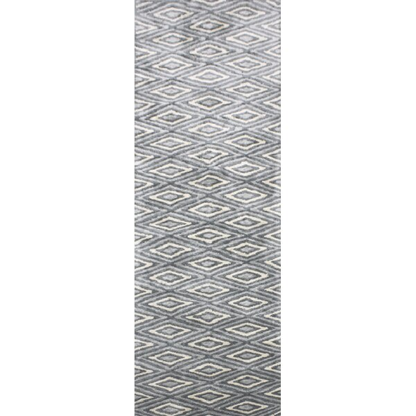 Arenas Hand-Woven Charcoal/Ivory Area Rug by Wrought Studio